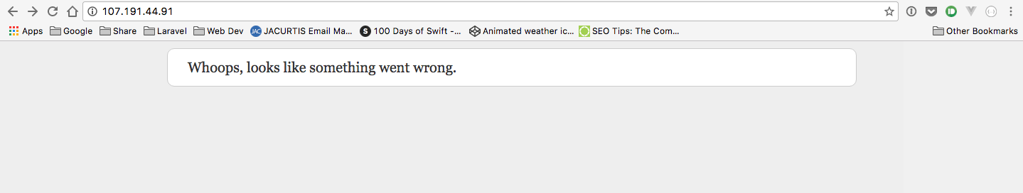 Laravel 5.3 Error message