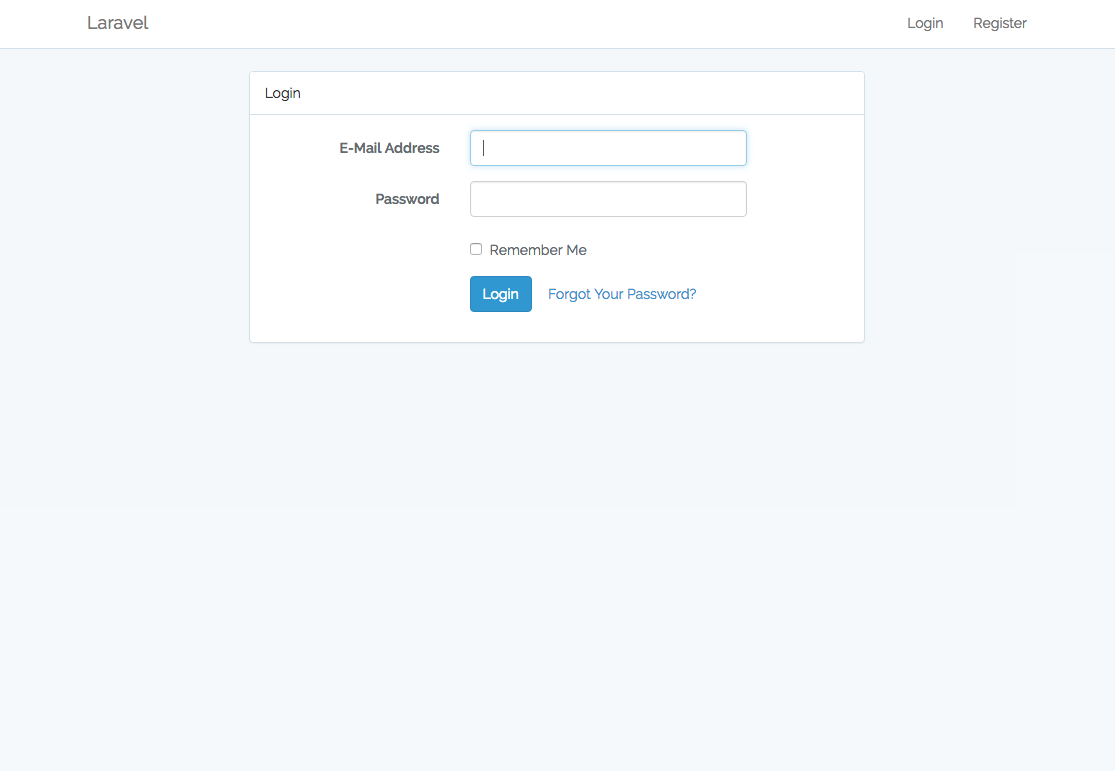 New in Laravel 5.3 Login Page
